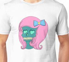 Heart Skull Girl Unisex T-Shirt