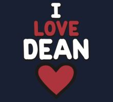 I love Dean by onebaretree