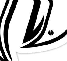 Ruff Ryder White Sticker