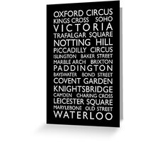 London Bus Roll (Bus Blind) Greeting Card