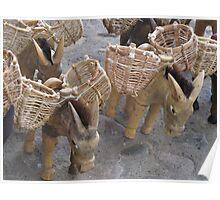 Donkeys - Burros Poster