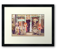 Vintage Fashion Shop Framed Print
