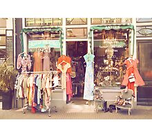 Vintage Fashion Shop Photographic Print