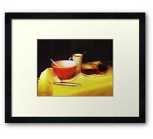 Breakfast at Dawn Framed Print