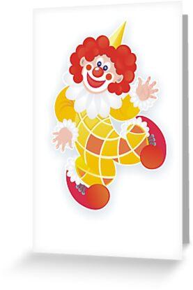 yellow clown by demonique