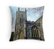 """"""" A Church with a History"""" Throw Pillow"""