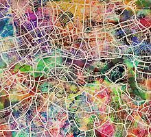 London Map Art Watercolor by ArtPrints
