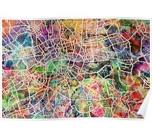 London Map Art Watercolor Poster