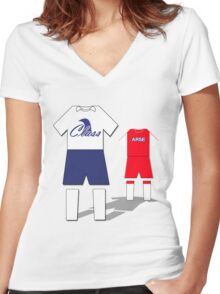 Class vs Arse Women's Fitted V-Neck T-Shirt