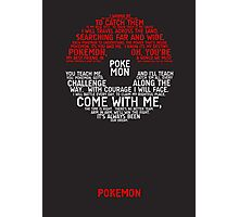 Pokemon Typography Photographic Print