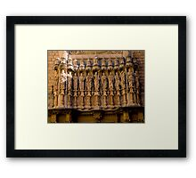The Facade of the Basilica on Montserrat. Framed Print