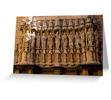 The Facade of the Basilica on Montserrat. Greeting Card
