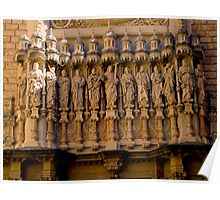 The Facade of the Basilica on Montserrat. Poster