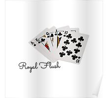 Poker Hands - Royal Flush Clubs Suit Poster
