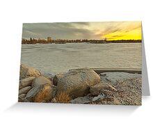 Wascana lake freezing Greeting Card