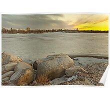 Wascana lake freezing Poster