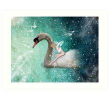 Ride a White Swan Art Print