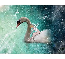 Ride a White Swan Photographic Print