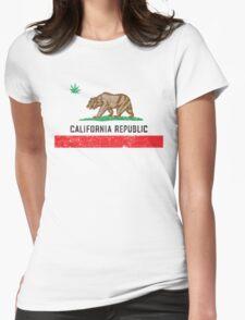 Vintage California Cannabis Womens Fitted T-Shirt