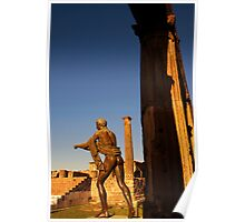 Statue of Apollo in the temple of Apollo, ruins of Pompeii Poster