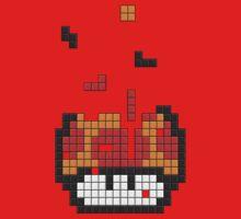 Super Mario Mushroom Pixel One Piece - Long Sleeve
