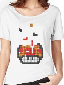Super Mario Mushroom Pixel Women's Relaxed Fit T-Shirt