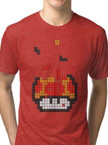Super Mario Mushroom Pixel Tri-blend T-Shirt
