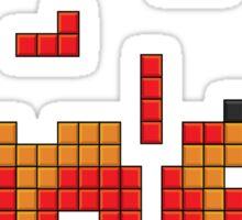Super Mario Mushroom Pixel Sticker