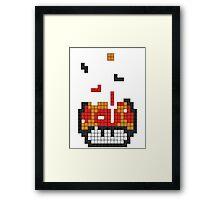 Super Mario Mushroom Pixel Framed Print
