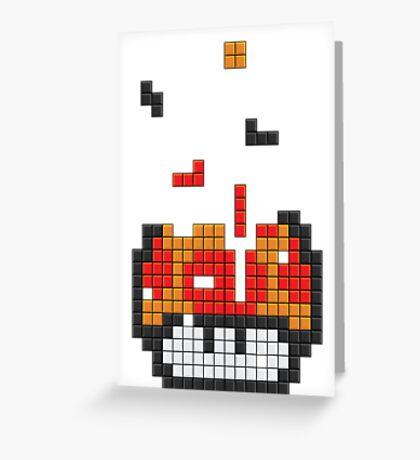 Super Mario Mushroom Pixel Greeting Card