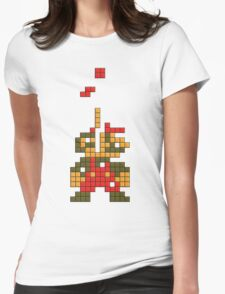 Super Mario Pixel  Womens Fitted T-Shirt