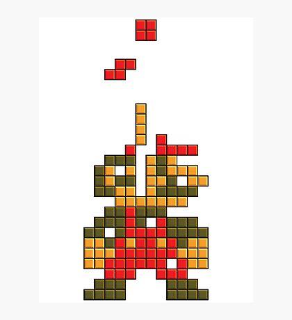 Super Mario Pixel  Photographic Print