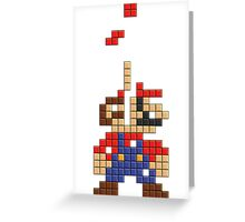 Super Mario Pixel Greeting Card