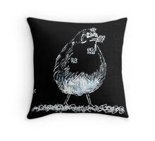 Snow Robin Throw Pillow