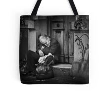 Home is Two Plastic Bags Tote Bag