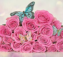 Bouquet of Roses and Butterflies by AnnaBaria