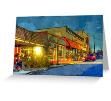 Watercolor Town Greeting Card