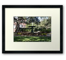 Fountain at Greene Square Framed Print