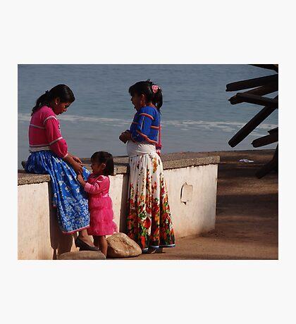 Three Proud Huichol Ladies - Tres Mujeres Huichol Orgullosas Photographic Print