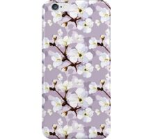 Chic vintage white lilac trendy blossom floral iPhone Case/Skin