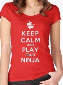 Keep Calm And Play Fruit Ninja Women's Fitted Scoop T-Shirt