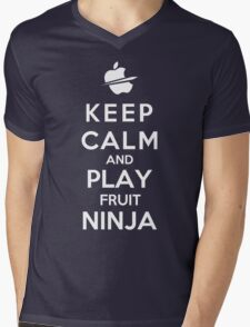 Keep Calm And Play Fruit Ninja Mens V-Neck T-Shirt