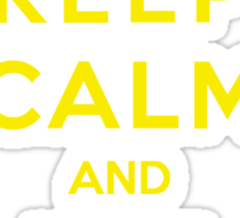 Keep Calm And Use Thunder Sticker