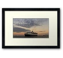 Queen Mary 2 and Westgate Bridge Framed Print