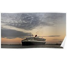Queen Mary 2 and Westgate Bridge Poster