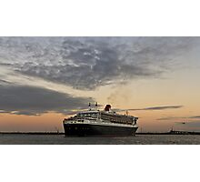 Queen Mary 2 and Westgate Bridge Photographic Print