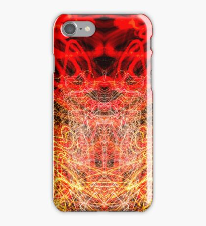 Lightpainting Abstract Symmetry UFA Prints #10 iPhone Case/Skin