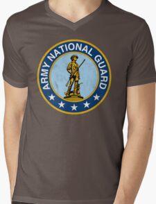 Army National Guard Vintage Mens V-Neck T-Shirt