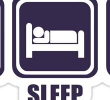 Eat Sleep Knit Sticker