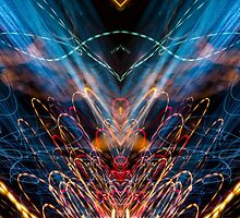 Lightpainting Abstract Symmetry UFA Prints #11 by NeonAbstracts